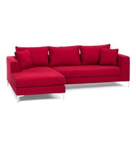 GRANT SECTIONAL SOFA - RED