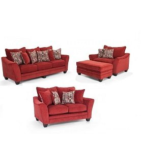 JAZZMIN LIVINGROOM SET - RED