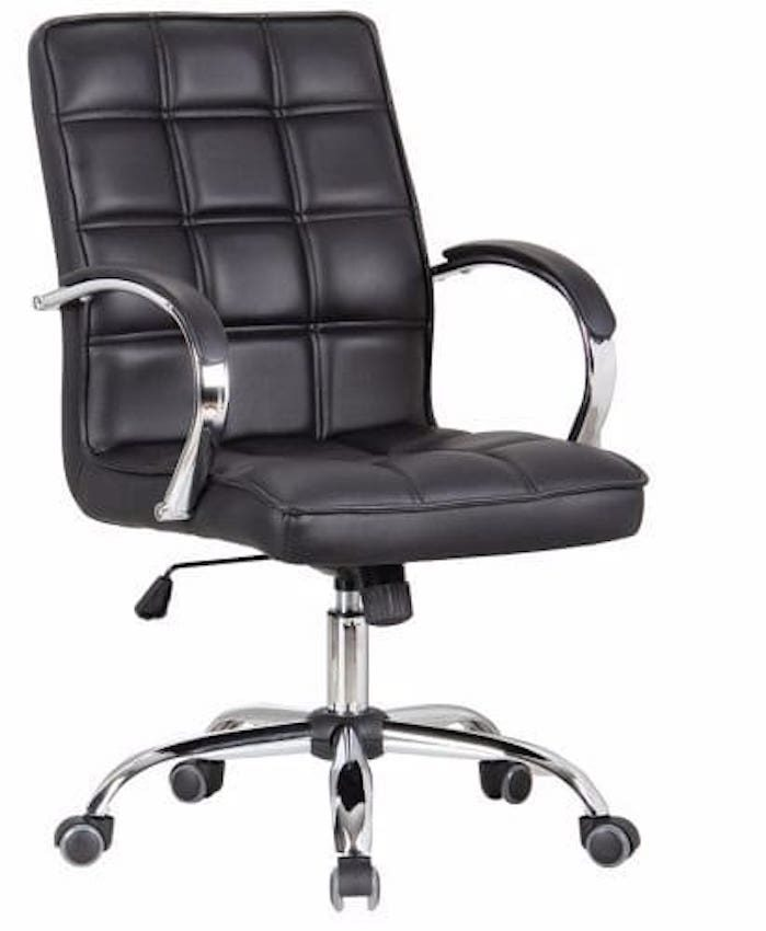 Mid Back Faux Leather Swivel Office Chair