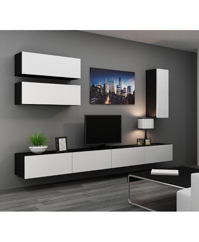 Uffot Floating Entertainment Center for TVs up to 88
