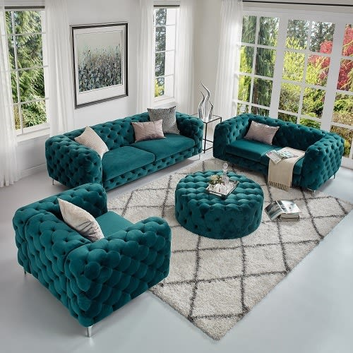 Green Chesterfield sofa in Lagos